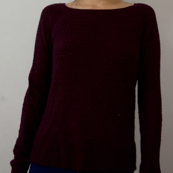 American Eagle Outfitters Sweaters - Lightly Used Knit Burgundy/Purple Sweater
